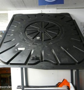 Reserve wiel afdek plaat